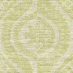 Damask in Lime from Lee Jofa (@Kravet) #fabric #linen #green