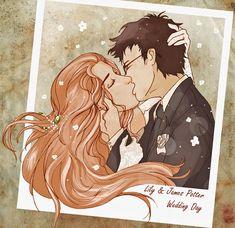 James and Lily Wedding Day by Chidori-aka-Kate.deviantart.com on @deviantART