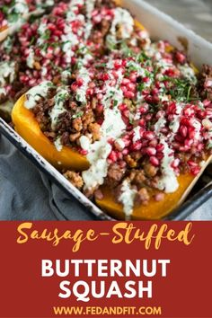 This Sausage Stuffed Butternut Squash is the perfect healthy whole-meal for your Fall table. Complete with spicy Italian sausage, healthy butternut squash, bright pomegranate seeds, and a savory lemon rosemary sauce, you will want to put this dish on repeat. I'm just so darn thrilled for this recipe! It's quintessential Fall and quintessential delicious. We've …