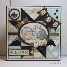 Dåps kort med Magnolia baby til lille William
