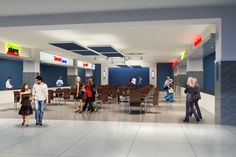 Artist rendering of the new food court that will open at Bassett Place in early 2016!