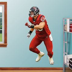 Brian Cushing REAL.BIG. Fathead Wall Graphic | Houston Texans Wall Decal | Sports Décor | Football Bedroom/Man Cave/Nursery