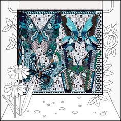 Les Ailes de Soie silk scarf - 90x90. La Maison des Carrés, the new address for…