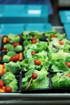 Fresh salads and veggies at Ballwin Elementary.   Rockwood School District