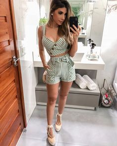 Pin by khan on tops in Short Outfits, Boho Outfits, Pretty Outfits, Spring Outfits, Dress Outfits, Girl Outfits, Cute Outfits, Fashion Outfits, Womens Fashion