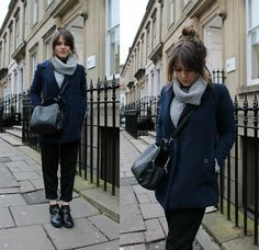 Sheinside Double Breasted Coat, Topshop Jumpsuit (Worn As Trousers), Sheinside Chunky Roll Neck