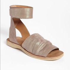 cae3db15642 Vince Leather Sandals Ankle Strap Sandals