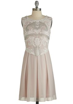 Ornate Entrance Dress. Want to make a stunning debut at tonights festive event? #pink #prom #modcloth