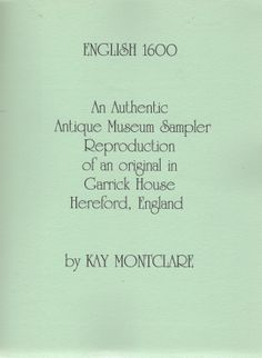 """""""English 1600"""" by Kay Montclare"""