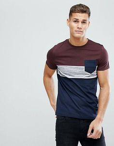 Browse online for the newest ASOS DESIGN t-shirt with pocket in inject fabric styles. Shop easier with ASOS' multiple payments and return options (Ts&Cs apply). Design T Shirt, Tee Shirt Designs, Casual Street Style, Vintage Mens T Shirts, Chemise Fashion, Camisa Polo, Shirt Refashion, Lookbook, Polo T Shirts