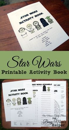 Star Wars Printable Activity Book | One Mama's Daily Drama for Busy Mom's Helper --- This would be a fun activity for kids or adults!