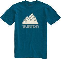 Burton Our Mountain Short Sleeve Heather Cerulean