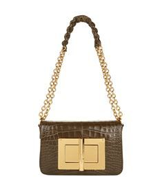 View the Natalia Large Crocodile Chain Shoulder Bag