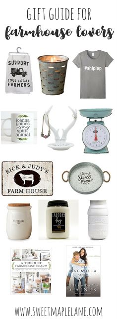 Holiday gift guide for farmhouse lovers! Farmhouse gift guide for all the farmhouse fans in your life!