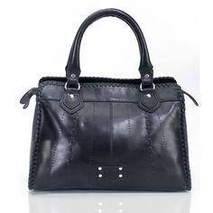 Buy online #BRUNE LADIES BLACK LEATHER #SATCHEL #BAG at voganow.com for Rs.4,760/- only