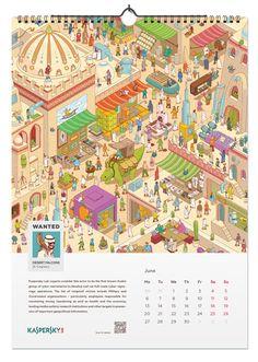 virus character Kaspersky Lab has been succ - virus New Year Calendar, Calendar Pages, Bullet Journal Notes, Calendar Design, Concept Art, Lab, Doodles, Layout, Software