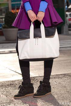 Love this Phillip Lim colorblock bag, $795; saksfifthavenue.com