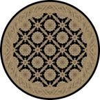 Imperial Aubosson Black 7 ft. 10 in. Round Area Rug