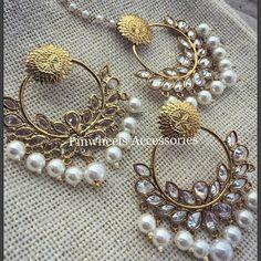 Earrings Rs 2300 Maṅg ṭika Rs 1500 WhatsApp to order on 9819082923 Gold Ruby Necklace, Pinwheels, Phoenix, Brooch, Jewels, Weddings, Princess, Nice, Earrings