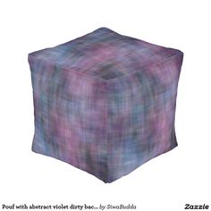 Pouf with abstract violet dirty background cube pouf