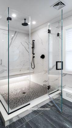 Washroom Design, Bathroom Design Luxury, Minimalist Bathroom Design, Modern Master Bathroom, Master Bathroom Shower, Marble Bathrooms, Bathroom Showers, Modern Bathrooms, Bathroom Ideas