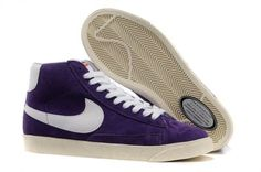 newest collection 4cc0c e4dfd Now Buy Comfortable Nike Blazer Womens Shoes POopular Purple White Save Up  From Outlet Store at Kdshoes.