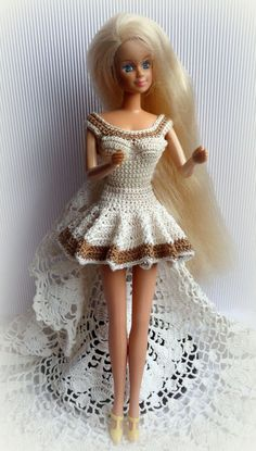 #Crochet #Barbie Dress by #RianasBarbieCloset: