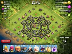 A Clash of Clans base idea for TH lvl 8
