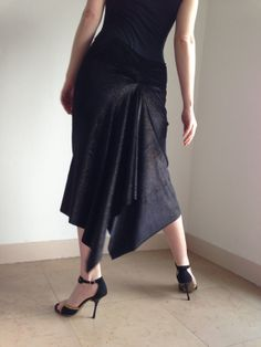 Black velvet tango skirt black & stars by BellaTango on Etsy, €70.00