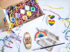 This DIY Personalized Rainbow Keychain kit has all the supplies you need to create TWO beautiful keychains, one for you and one for a friend! (Though I won't judge if you keep them both for yourself!)This is a great kit for anyone who's looking for a quick self care craft while you're stuck at home or to keep kids busy while you get some of that endless laundry pile folded.
