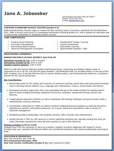 elementary school teacher resume samples free - Elementary Teacher Resume Template