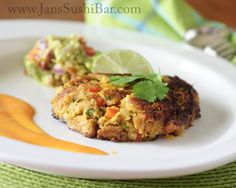 Curried Mango Tuna Cakes. Give the humble tuna cake a sweet and spicy twist with curry powder and diced mango!
