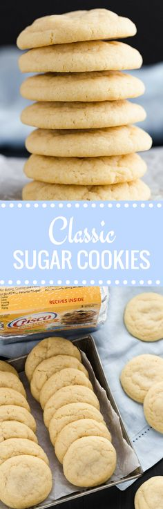 Take your sugar cookies to new heights by using @Crisco shortening instead of butter! #ad #BakeItBetter #cookies #baking