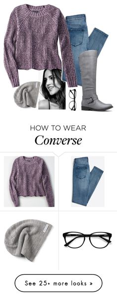 """Cutie"" by be-for-real on Polyvore featuring American Eagle Outfitters, EyeBuyDirect.com and Converse"