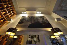 Bowers & Wilkins Architectural Monitor AM-1 in Cafe de Paris Antwerpen, Belgium. Symmetrical integration, wonderful sound