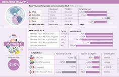 Perú y Colombia fueron las bolsas del Mila que más perdieron durante 2015