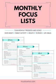 Excel Calendar Template, Calendar Printable, Spiritual Development, Personal Development, Making Goals, Goal Setting Template, Goal List, Marketing Calendar, Monthly Themes
