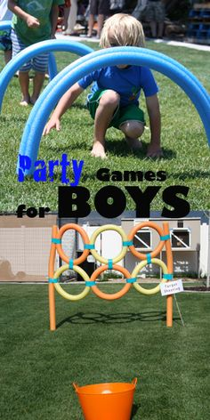 Party Games for Boys- (not sure why this says for boys, my girls would love some of these ideas)