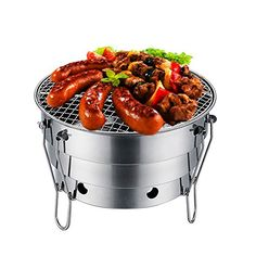 TaoKing Portable BBQ Camping Grill Stove Charcoal Wood Outdoor Folding >>> Want to know more, click on the image.