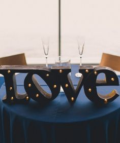 Wooden love sign.