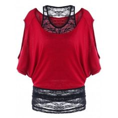 Photo Gallery - Two Tone Cold Shoulder Tunic T-shirt Cute Clothes For Women, Casual Tops For Women, Beautiful Clothes, Cool Outfits, Fashion Outfits, Summer Outfits, Skirts For Sale, Clothing Sites, Cold Shoulder