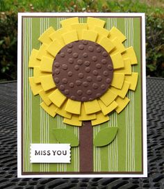 Krystal's Cards: Stampin' Up! Sunburst Sayings Sunflower Reject