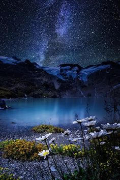 Milky way and mountains
