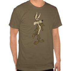 Wile E. Coyote Looking Proud T-shirt Design - many styles and colours, both men's and lady's / women's (t-shirts, tee, tees, t shirt, tshirt, creative, cool, graphic, style, text, humour, funny, humorous, hilarious, Looney Tunes, cartoon, character, brown, retro, vintage)