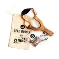 Homemade seed bombs.