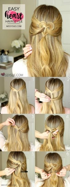 Cute Heart Shape Hair Tutorial | Chikk.net