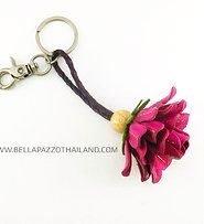 Product | FLOWER KEYCHAIN | Bella Pazzo Thailand | Leather Flower