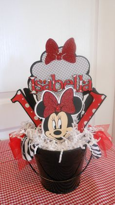 Minnie Mouse Birthday Centerpiece by ASweetCelebration on Etsy, $28.50