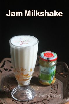 Delicious and easy milkshake made using jam. You can use any jam, i used pineapple. Perfect milkshake for kids for this summer. Gin Drink Recipes, Drink Recipes Nonalcoholic, Milkshake Recipes, Milk Recipes, Indian Food Recipes, Honey Chilli Potato, Summer Drinks, Cold Drinks, Beverages