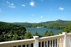 Great view of Lake Glenville from the deck of this villa. Home for sale. For more information contact Hattler Properties at 828-743-1144. MLS 72158